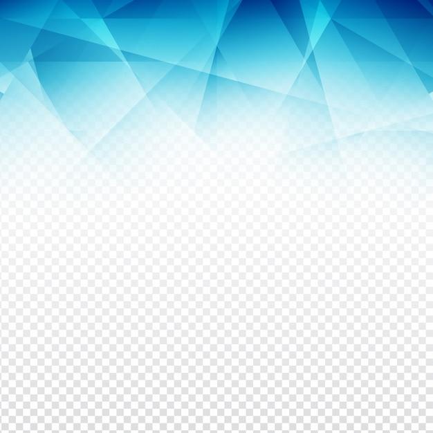 design moderno azul forma poligonal no fundo transparente