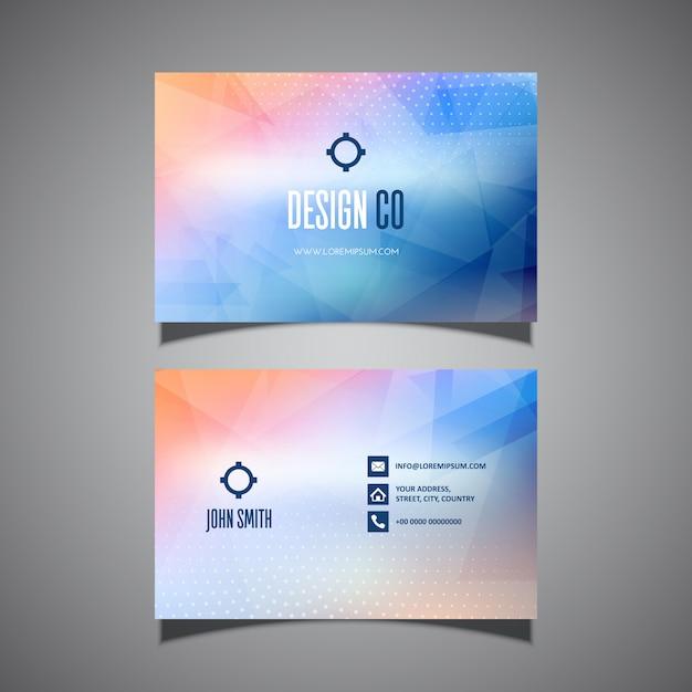 Design moderno cartão de visita Vetor grátis