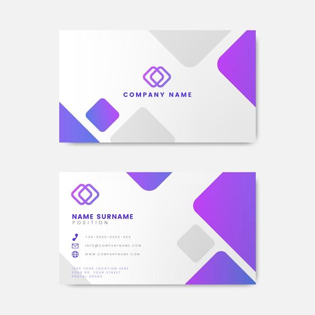 Design moderno cartão geométrico Vetor grátis