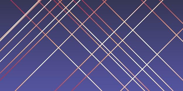 Design moderno com linhas em ouro rosa Vetor grátis