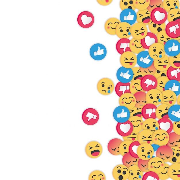 Design moderno de emoji em fundo branco Vetor Premium