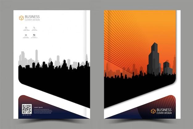 Design moderno de panfleto folheto comercial. Vetor Premium