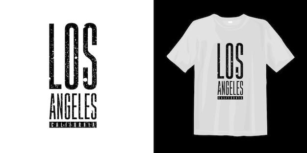 Design moderno de t-shirt e vestuário gráfico de los angeles califórnia Vetor Premium