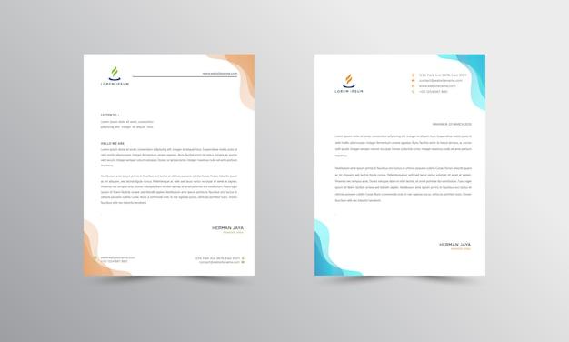 Design moderno do papel timbrado de abtract papel timbrado Vetor Premium