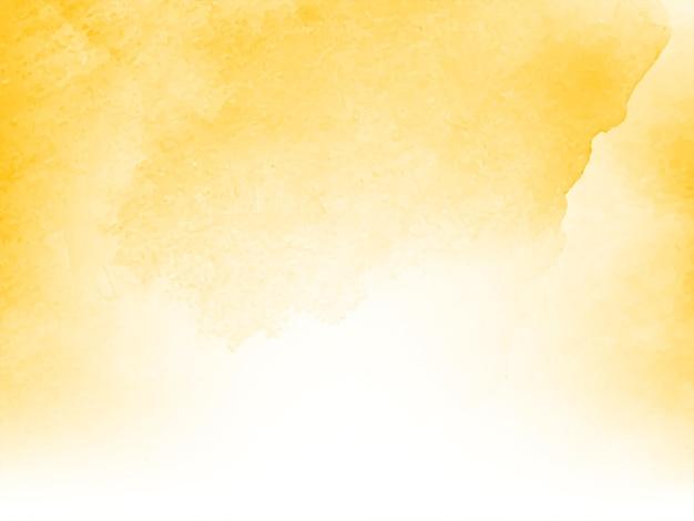 Design moderno e suave em aquarela com fundo amarelo Vetor grátis