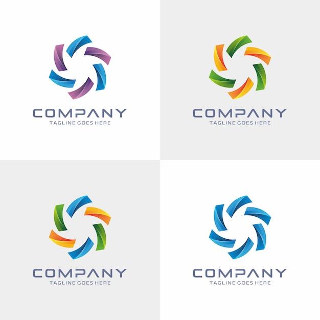Design moderno logotipo abstrato Vetor Premium