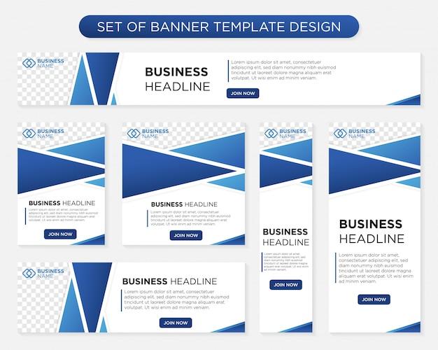 Design moderno modelo de banner Vetor Premium