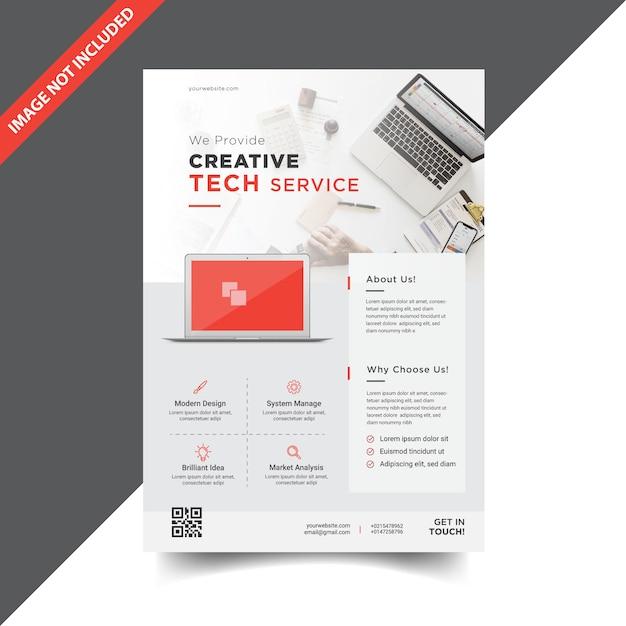 Design moderno modelo de folheto corporativo Vetor Premium