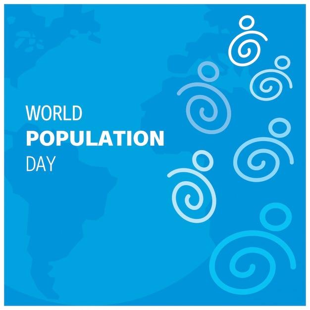 Design moderno para o dia da população mundial Vetor grátis