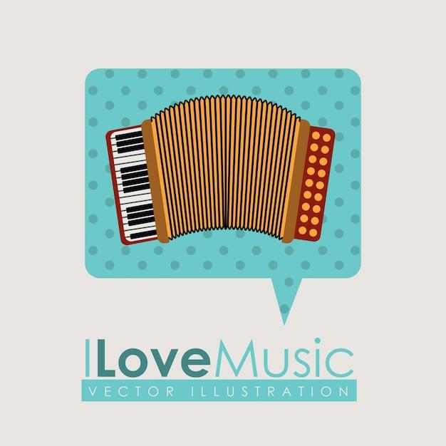 Design musical Vetor Premium