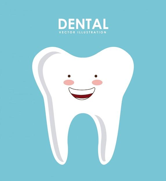 Design odontológico Vetor Premium
