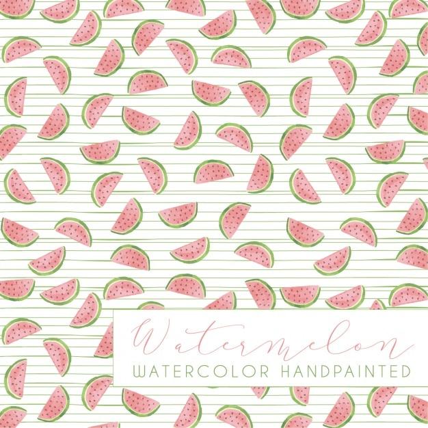 Design padrão da melancia Vetor grátis