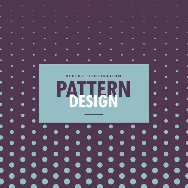 Design padrão de pontos no fundo roxo Vetor grátis