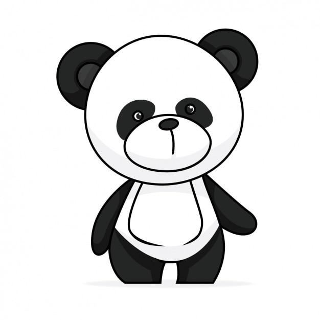 Design panda pintada à mão Vetor grátis