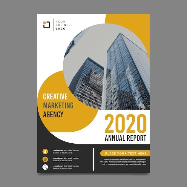 Design para o modelo de relatório anual com foto Vetor grátis