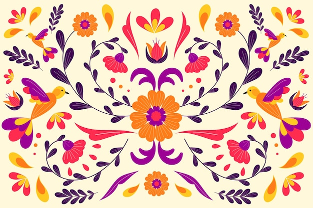 Design plano colorido fundo mexicano Vetor grátis