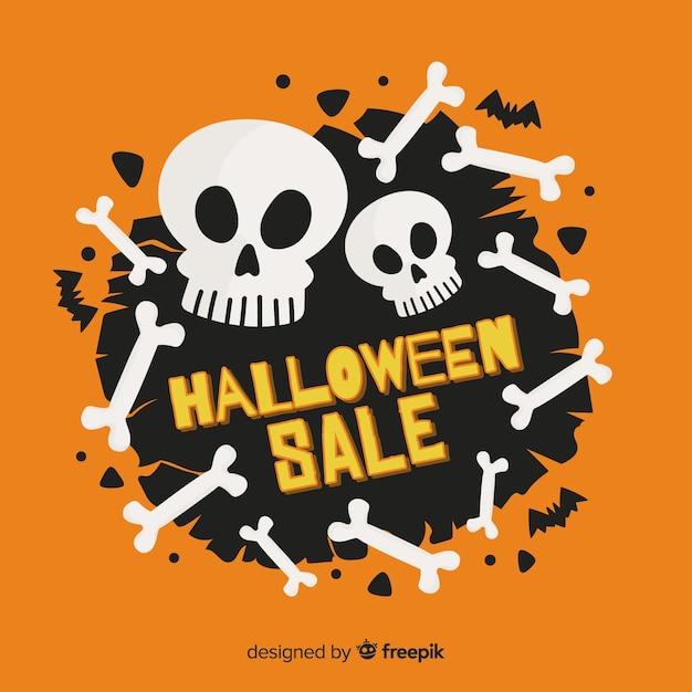 Design plano com vendas de halloween Vetor grátis