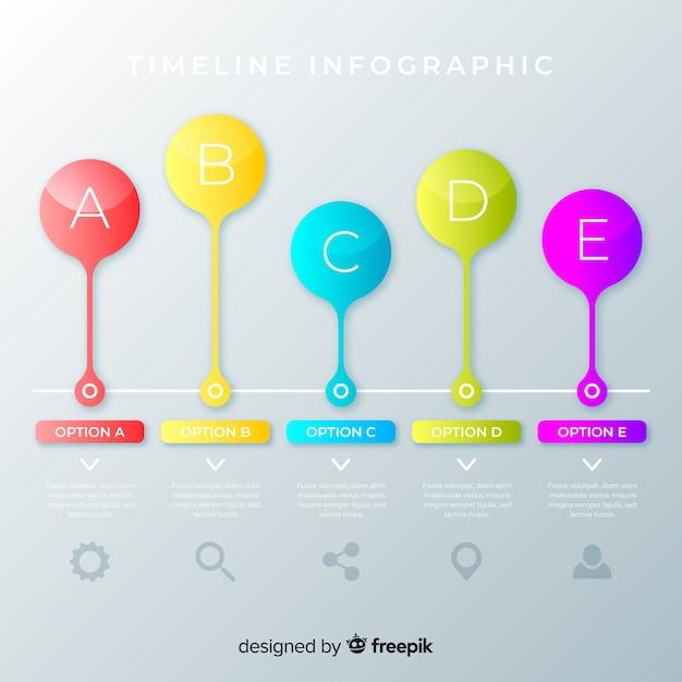 Design plano cronograma colorido infográfico Vetor grátis