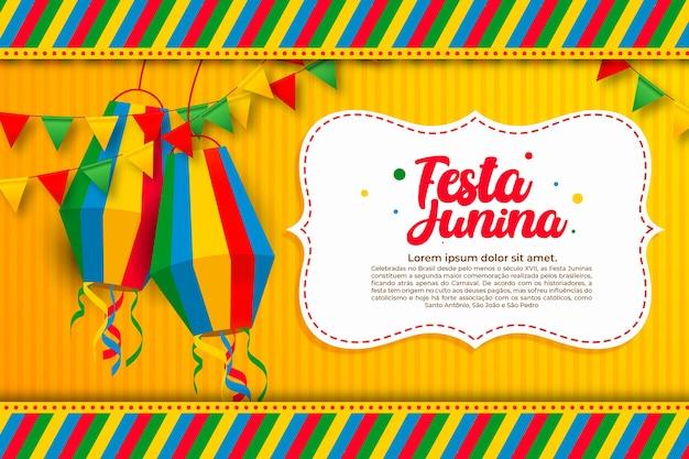 Design plano de celebração festival de junho Vetor grátis