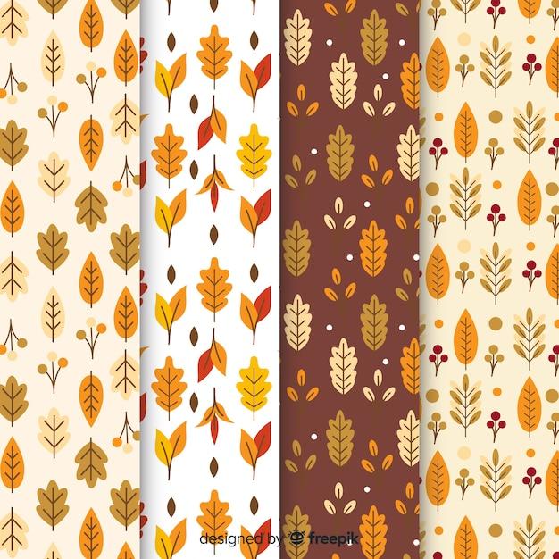 Design plano de coleção outono padrão Vetor grátis