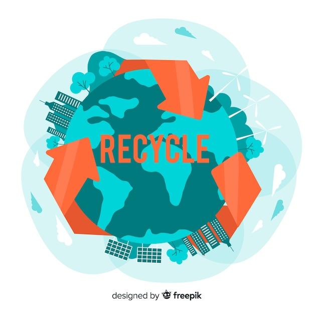 Design plano de fundo de conceito de ecologia Vetor grátis