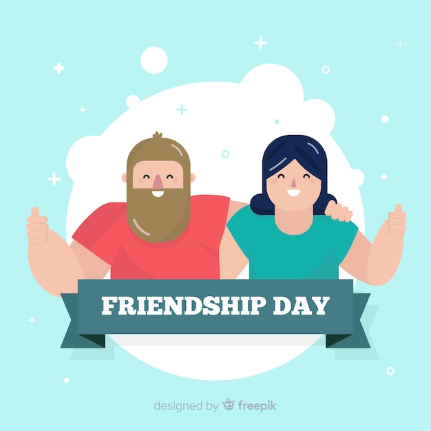 Design plano de fundo de dia de amizade Vetor grátis