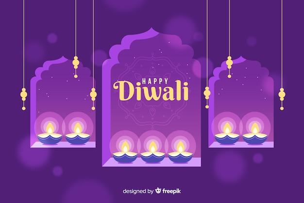 Design plano de fundo de diwali Vetor grátis
