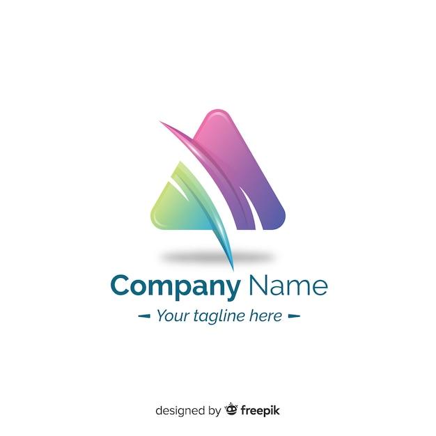 Design plano de logotipo abstrato gradiente Vetor grátis