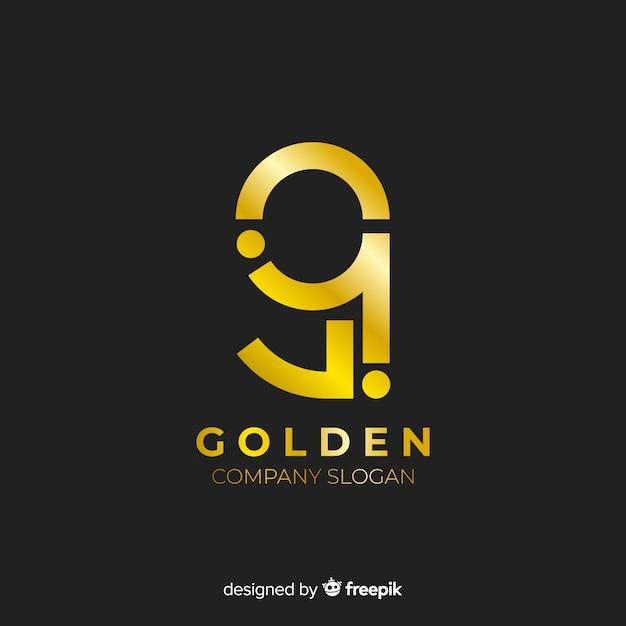 Design plano de logotipo dourado elegante Vetor grátis