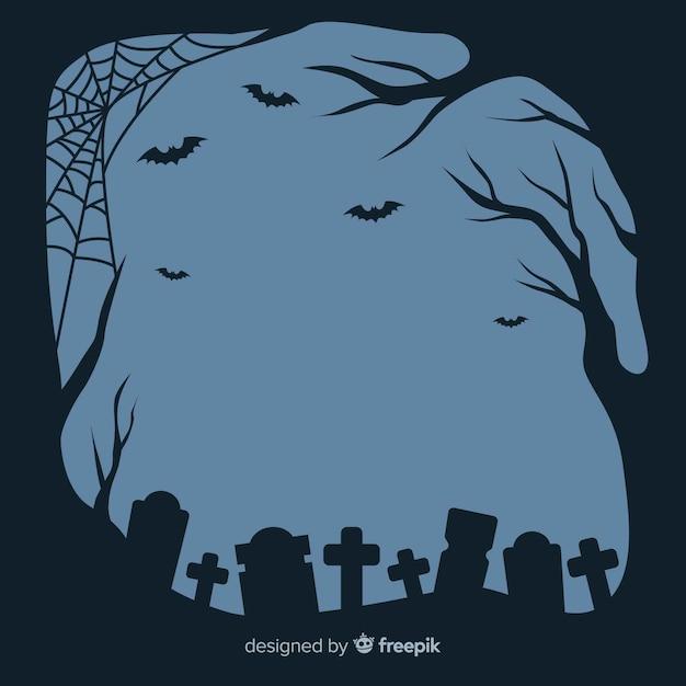 Design plano de moldura de halloween Vetor grátis