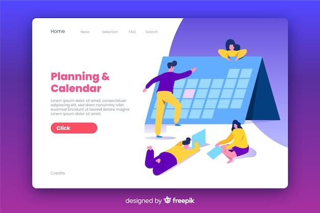 Design plano de página de destino de negócios Vetor grátis