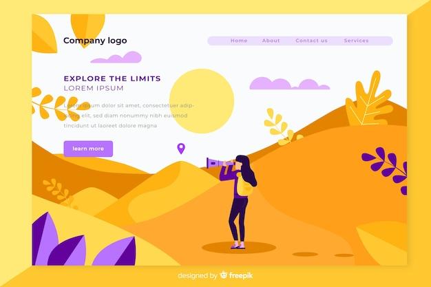 Design plano de página de destino de viagem Vetor grátis