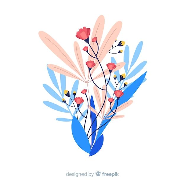 Design plano de ramo floral colorido Vetor grátis