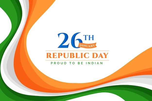 Design plano dia da república indiana Vetor Premium