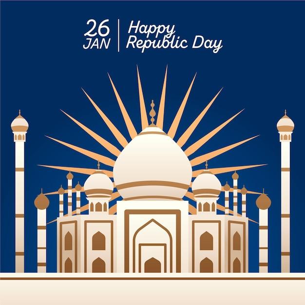 Design plano dia da república indiana Vetor grátis
