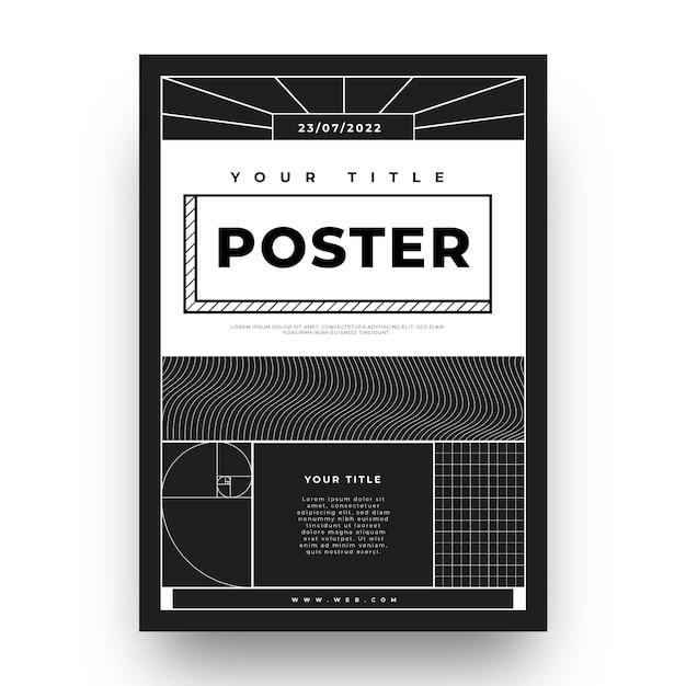Design plano do pôster y2k Vetor grátis
