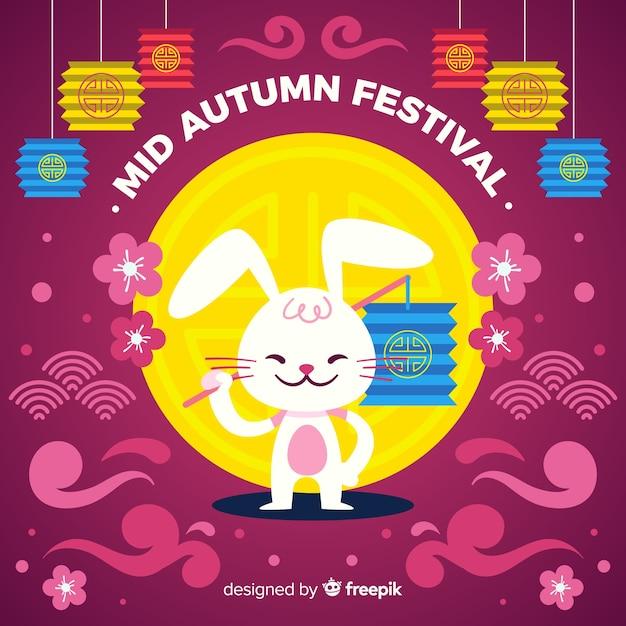 Design plano meados festival de outono Vetor grátis