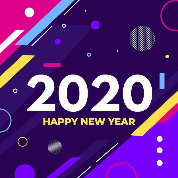 Design plano novo ano 2020 fundo Vetor grátis