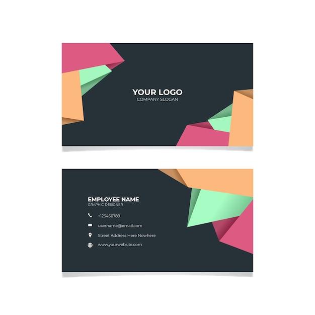 Design profissional de cartão de visita abstrato Vetor grátis