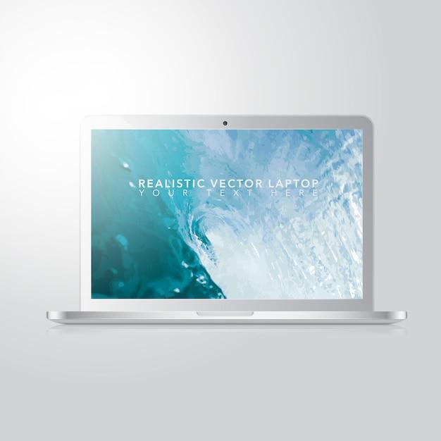 Design realista de laptop Vetor Premium