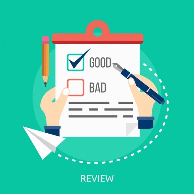 Design review fundo Vetor grátis