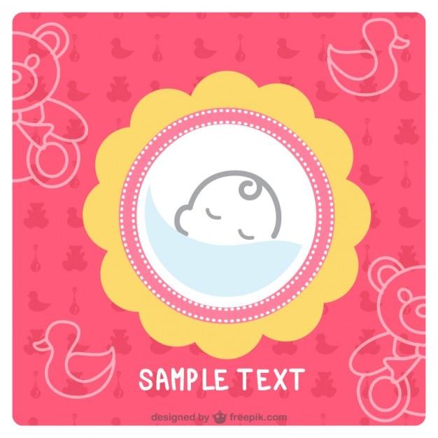Design simples cartão do bebê Vetor grátis