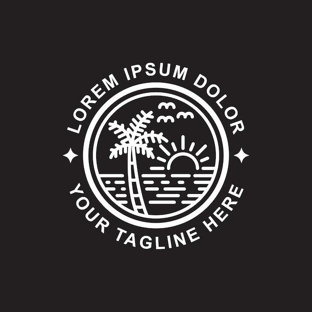 Design simples contorno da ilha Vetor Premium