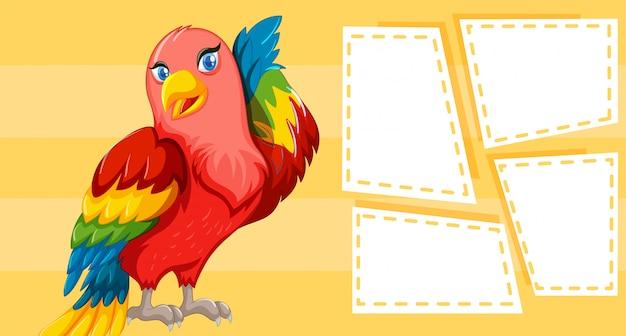 Design temático de pássaros para escrever Vetor grátis