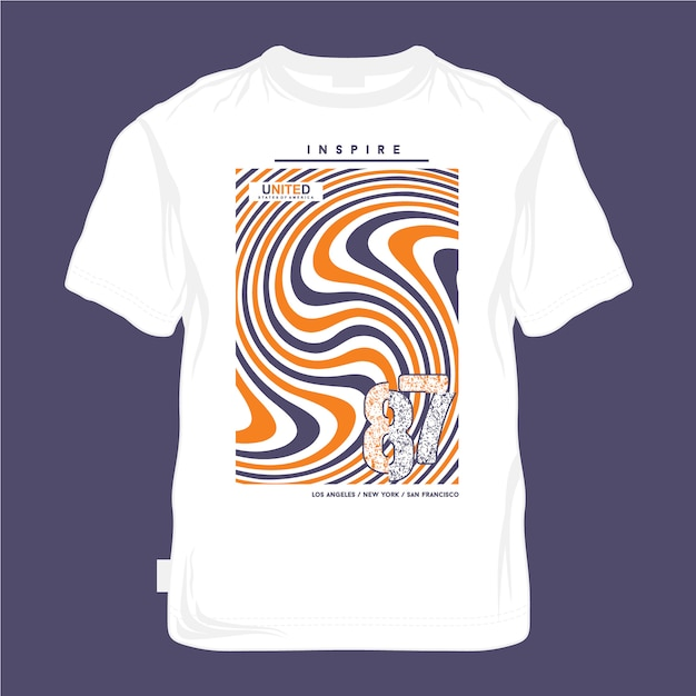 Design urbano camiseta legal cor Vetor Premium