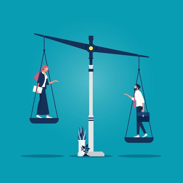 Desigualdade e feminismo Vetor Premium