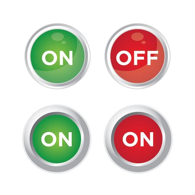 Desligue o botão Vetor Premium