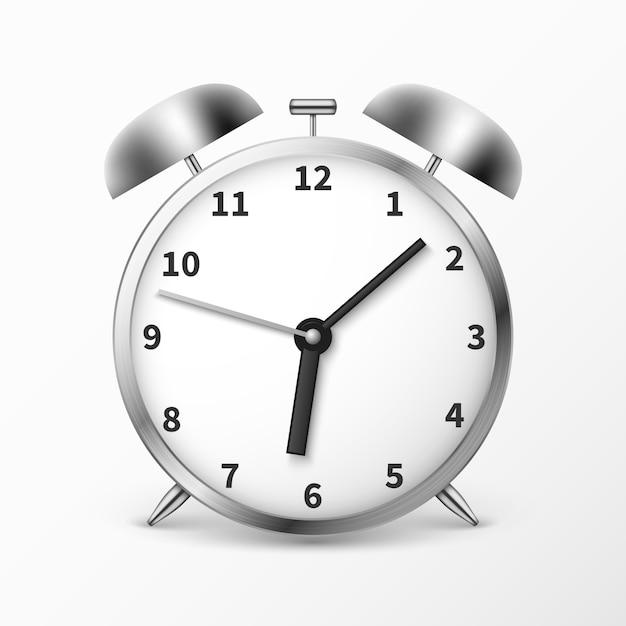 Despertador com sinos Vetor Premium