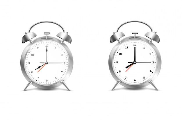 Despertador realista. Vetor Premium