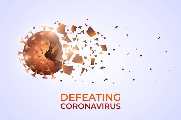 Destruindo desenho de plano de fundo do coronavírus Vetor grátis